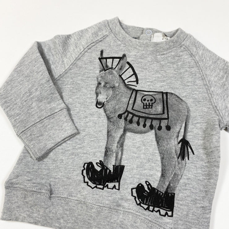 Stella McCartney Kids grey Billy Thunder donkey print sweatshirt Second Season 6M