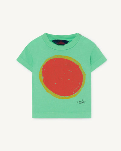 The Animals Observatory green Sun print T-shirt Second Season 12Y