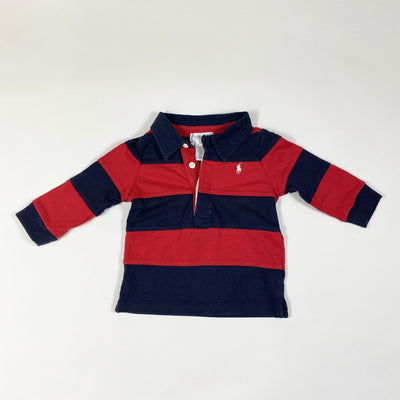 Ralph Lauren red and blue long-sleeved rugby shirt 9M