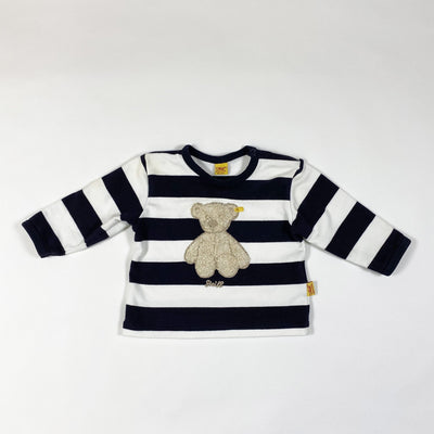 Steiff navy and white bold stripe long-sleeved t-shirt 2M/56