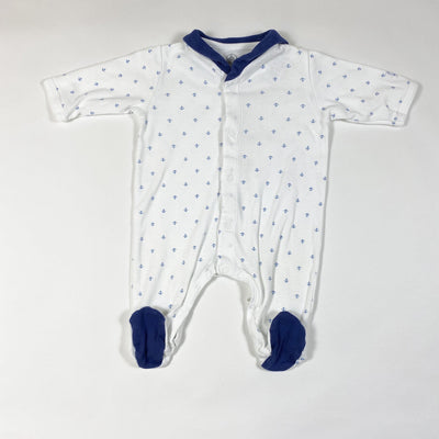 Petit Bateau anchor print pyjamas with collar 1M/54