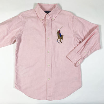 Ralph Lauren pink long-sleeved button down shirt 6Y