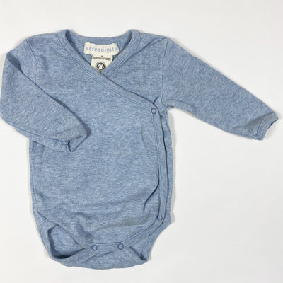 Serendipity Organics baby blue long-sleeved wrap body 50/NB