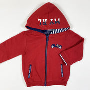 Mayoral red hooded sweatshirt 12M