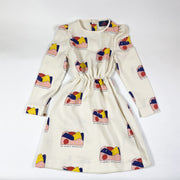 The Animals Observatory long-sleeved crepe print dress 6Y