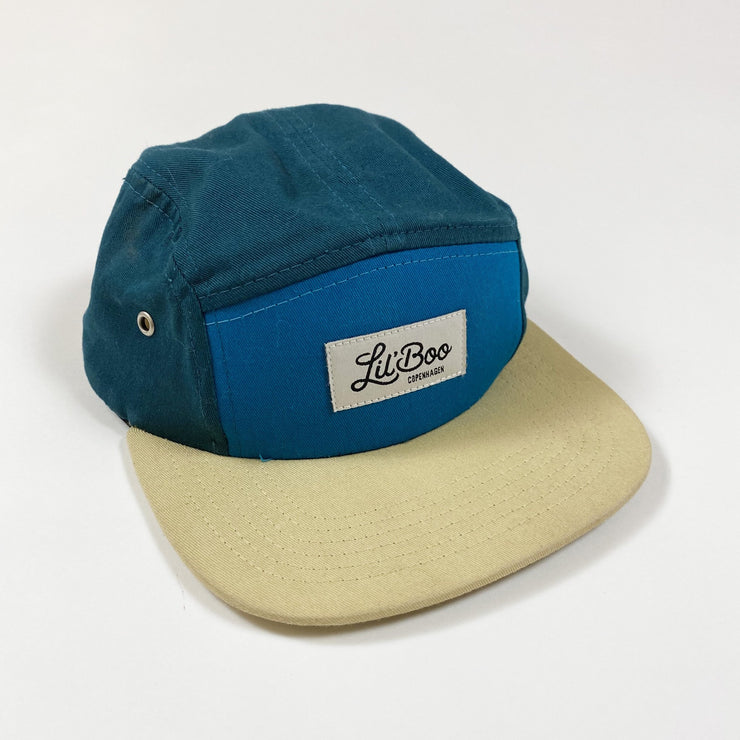 Lil'Boo block green 5 panel cap with square brim visor S/9M-1.5Y/47-50