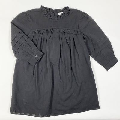 Arket black ruffle seersucker dress 110/4-5Y