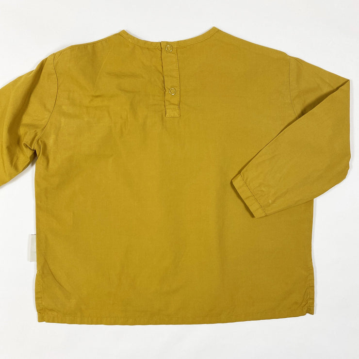 Tiny Cottons mustard long-sleeved ruffle blouse 4Y