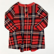 Mini Rodini red plaid check dress 56/62