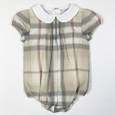 Burberry classic check romper with peter pan collar 3M/60cm