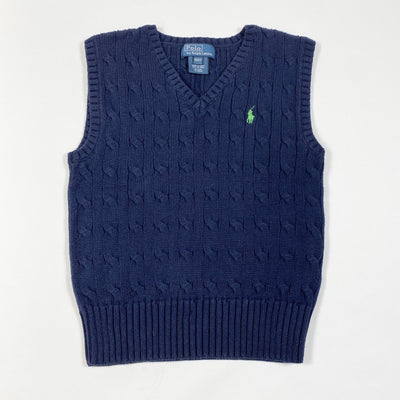 Ralph Lauren navy cable knit vest 4Y