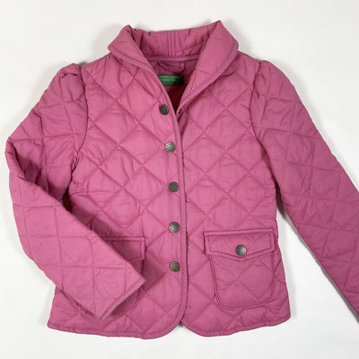 Benetton pink quilted jacket 7-8T/130cm