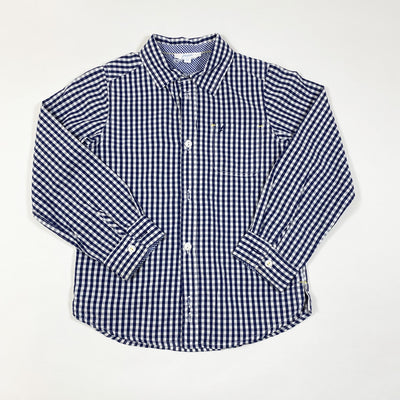 Jacadi navy gingham shirt 6Y