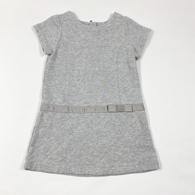 Jacadi grey short-sleeved dress with quilted skirt 2Y