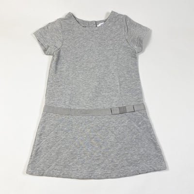 Jacadi grey short-sleeved dress with quilted skirt 4Y/104cm
