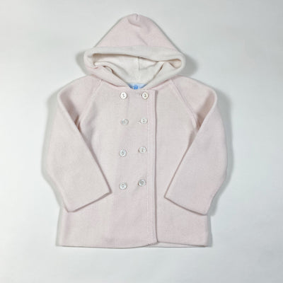 Frilo soft rose knitted hooded jacket 86