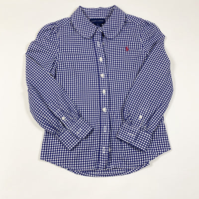 Ralph Lauren blue gingham brushed cotton blouse 5Y