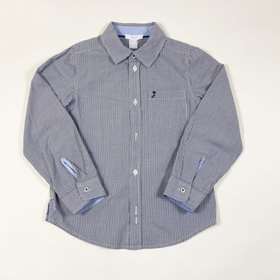 Jacadi navy fine checked shirt 6Y/116cm
