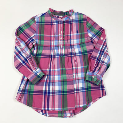 Ralph Lauren pink plaid brushed cotton tunic blouse 5Y
