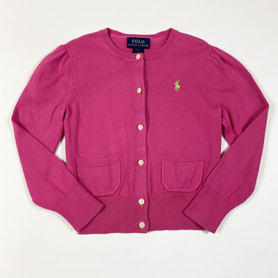 Ralph Lauren hot pink cardigan 5Y