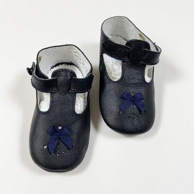 Jacadi navy leather baby shoes 12cm