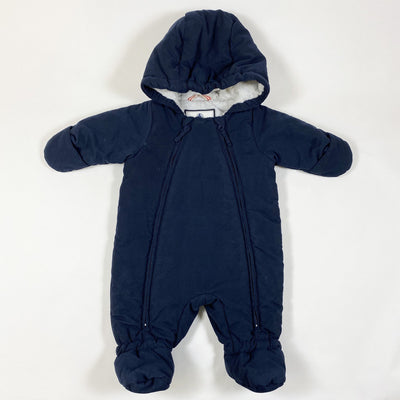 Petit Bateau navy padded overall 3M
