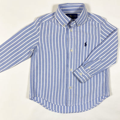 Ralph Lauren light blue striped button down shirt 3Y