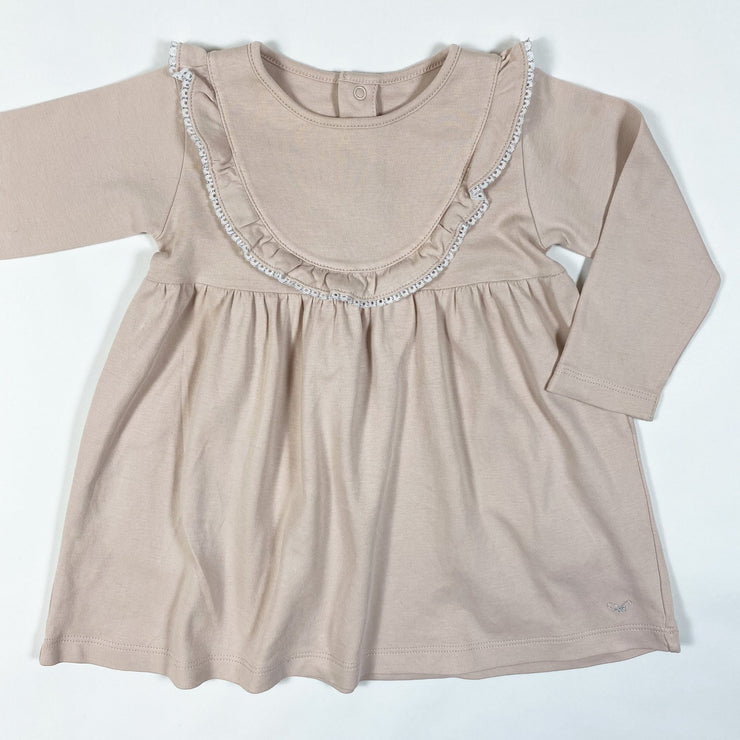 Livly soft pink lace detail dress 9-12M