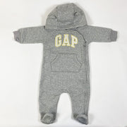 Gap grey hooded french terry jumpsuit 3-6M