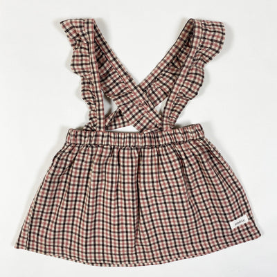 Newbie checked braces skirt 80/9-12M