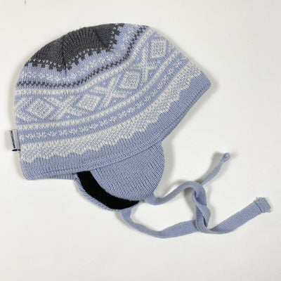 Marius Norway blue knitted hat with ear flaps 3-6M/44-46cm