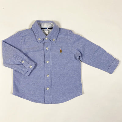 Ralph Lauren blue long-sleeved button down 6M