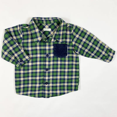 Benetton green plaid long-sleeved shirt 62