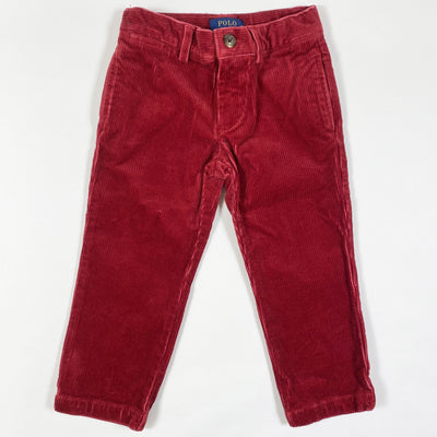 Ralph Lauren red corduroy trousers 2Y