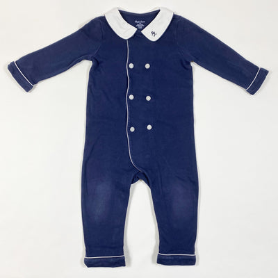 Ralph Lauren navy double-breasted jumpsuit 12M