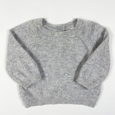 H&M light grey cashmere pullover 2-4M/62