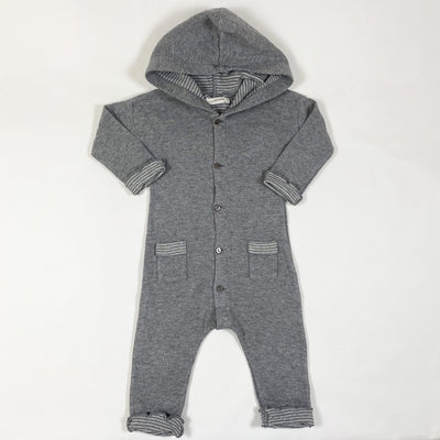 1+ in the family grey hooded jumpsuit with pockets 6M