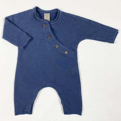 Nucleo navy brushed cotton jumpsuit 0/1M