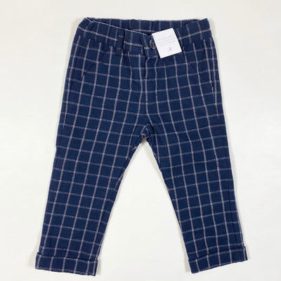 Idexe navy checked warm trousers 18M/86 1