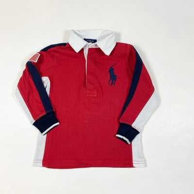 Ralph Lauren red/navy rugby shirt 2/2T 1