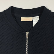 Tiny Cottons navy zipped thin cotton bomber 4Y