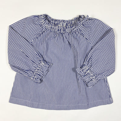 J.Crew blue striped long-sleeved blouse  5Y
