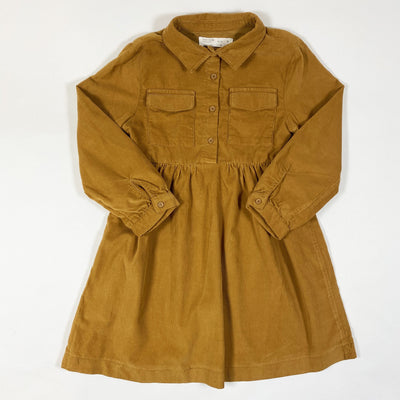 Zara cognac long-sleeved corduroy dress 6Y/116