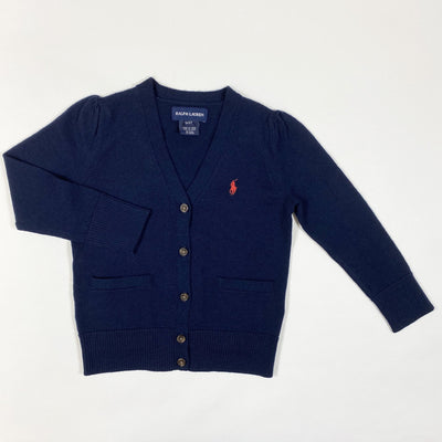 Ralph Lauren navy soft wool knit cardigan 3/3T