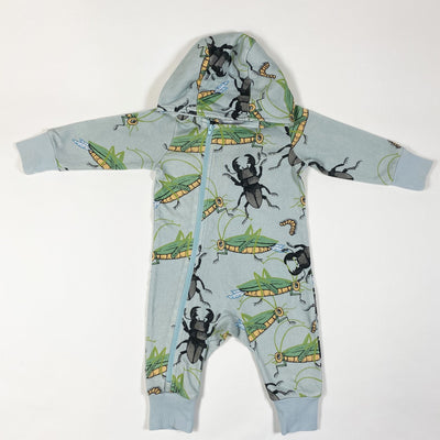 Mini Rodini bug print hooded zip jumpsuit 56/62