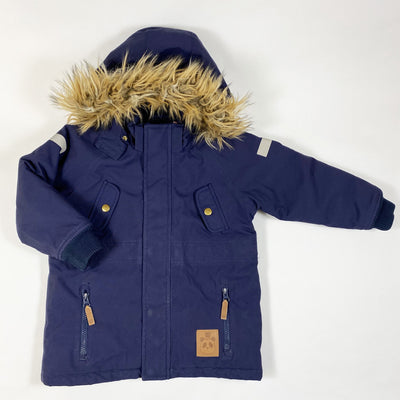 Mini Rodini navy winter parka 104/110