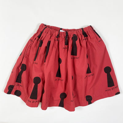 Beau Loves red mon secret print skirt 2-3Y