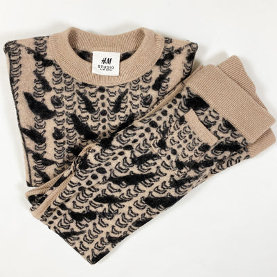 H&M Studio animal print wool cashmere set 2-4Y/98-104