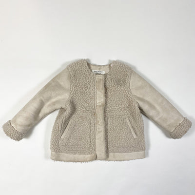 Zara beige faux fur shearling jacket 12-18M/86