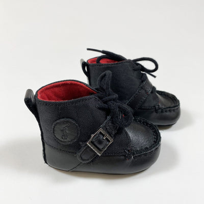 Ralph Lauren black baby booties 16